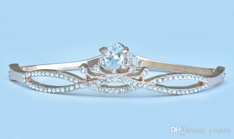 Coreano mão simples selvagem selvagem jóias ornamentos de presente de aniversário celebração da mulher - pulseira de coroa