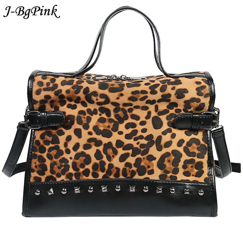d9f4b2c689 Sac Bandouliere Femme De Luxe Leopard Women Fashion Rivet Bag Famous Brands  Purse Sac A Main Ladies Crossbody Bag Handbags On Sale Leather Bags From  Redline ...