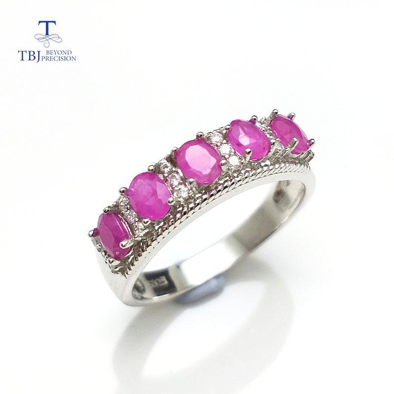 Beste Geschenk Einfache Design Ring Mit 100% Natürliche Echt Indien Rubin Edelstein In 925 Sterling Silber Edlen Schmuck Für Frauen Tbj