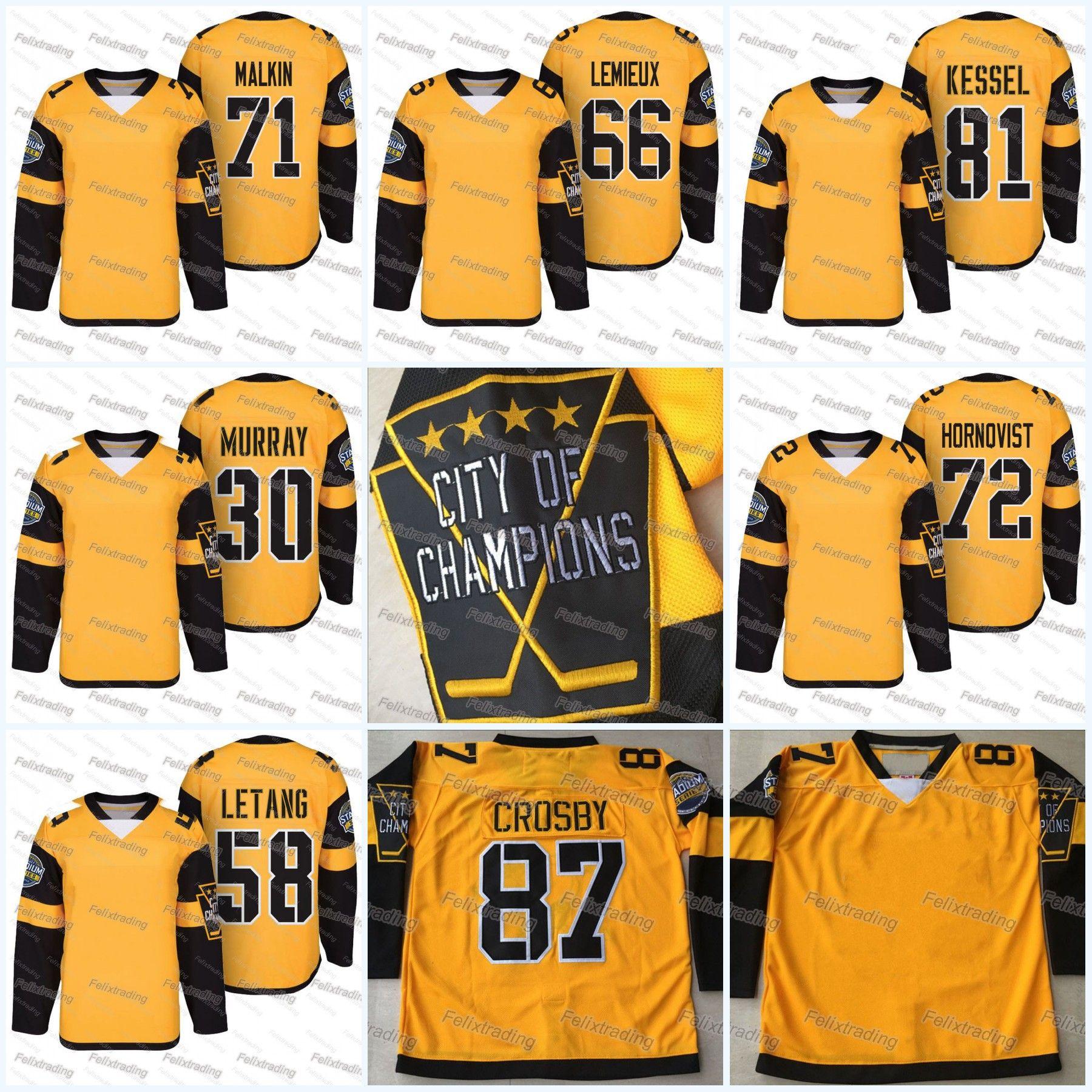 best website 4d519 72593 2017 Stadium Series #87 Sidney Crosby 30 Matt Murray 58 Kris Letang 81 Phil  Kessel 66 Mario Lemieux 68 Jaromir Jagr Hockey Jerseys