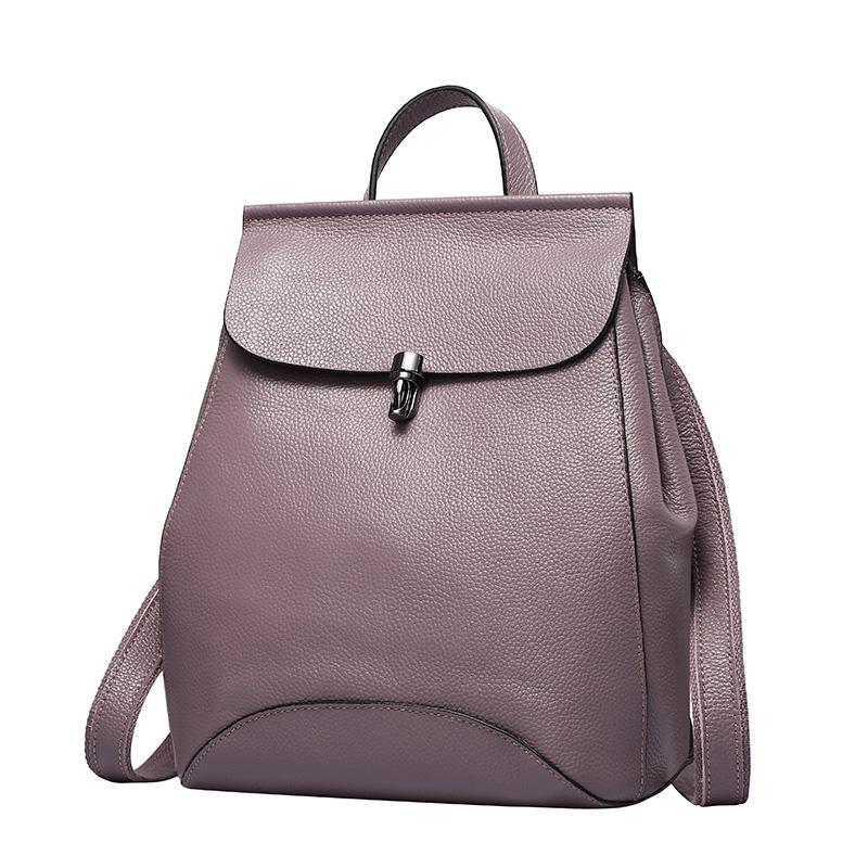 ZENCY Fashion New Women 100% Soft Natural Genuine Cow Leather Backpack  Female Designers Ladies Cowhide Woman School Bags Girls Girl Backpacks  Toddler ... 452d6c5dcc