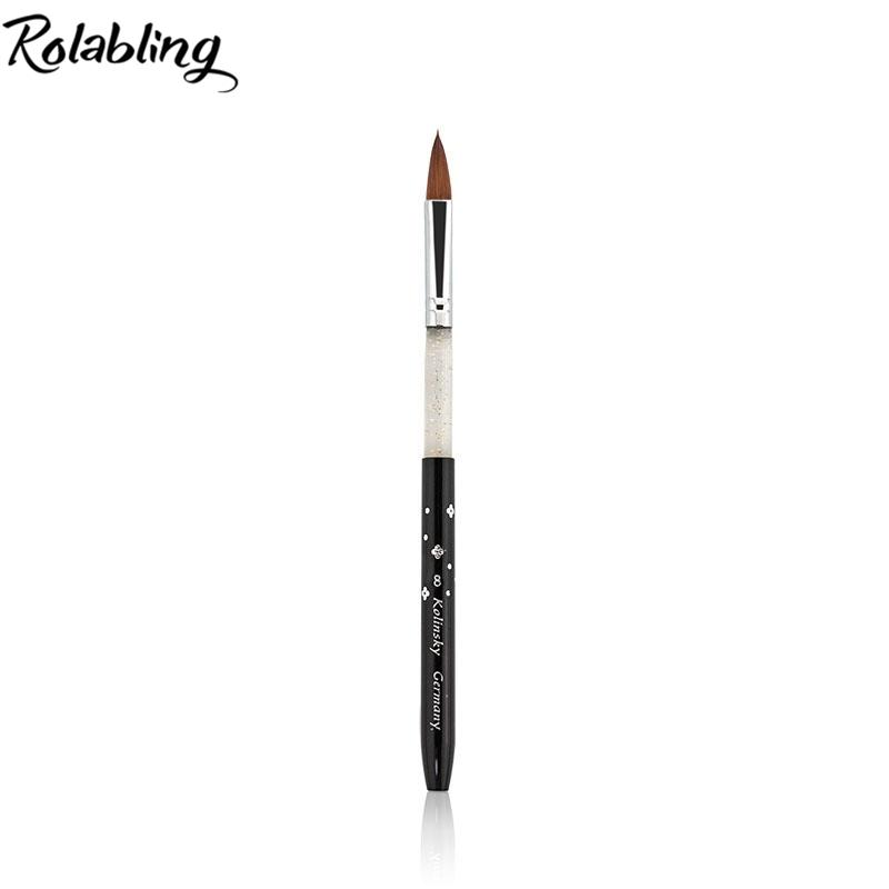 Rolabling 8# Black Kolinsky Sable Brush Professional Nail Brush For ...