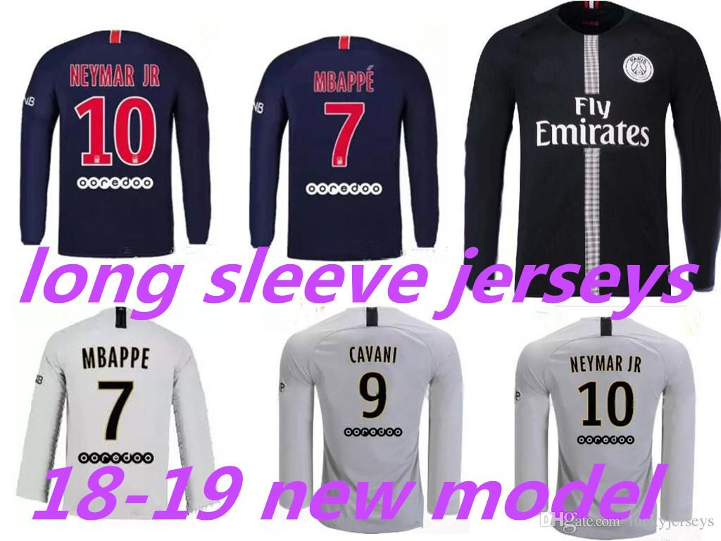 2019 18 19 PSG Long Sleeve Soccer Jerseys Paris MBAPPE CAVANI Full Saint  Germain Home Away 2018 2019 Champion League Jerseys From Luckyjerseys 07fe8e1f4
