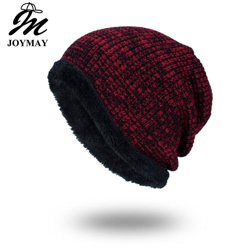 cf58fb66b Joymay Winter Beanies Solid Color Hat Unisex Plain Warm Soft Skull Knitting  Cap Hats Touca Gorro Caps For Men Women WM064