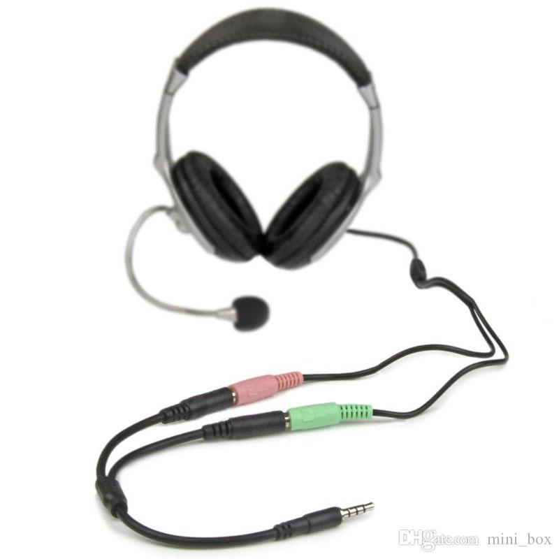 Da 1 a 2 Splitter cuffie da 3,5 mm Maschio a 2 * 3,5 mm Femmina Adattatore cavo audio Splitter auricolari