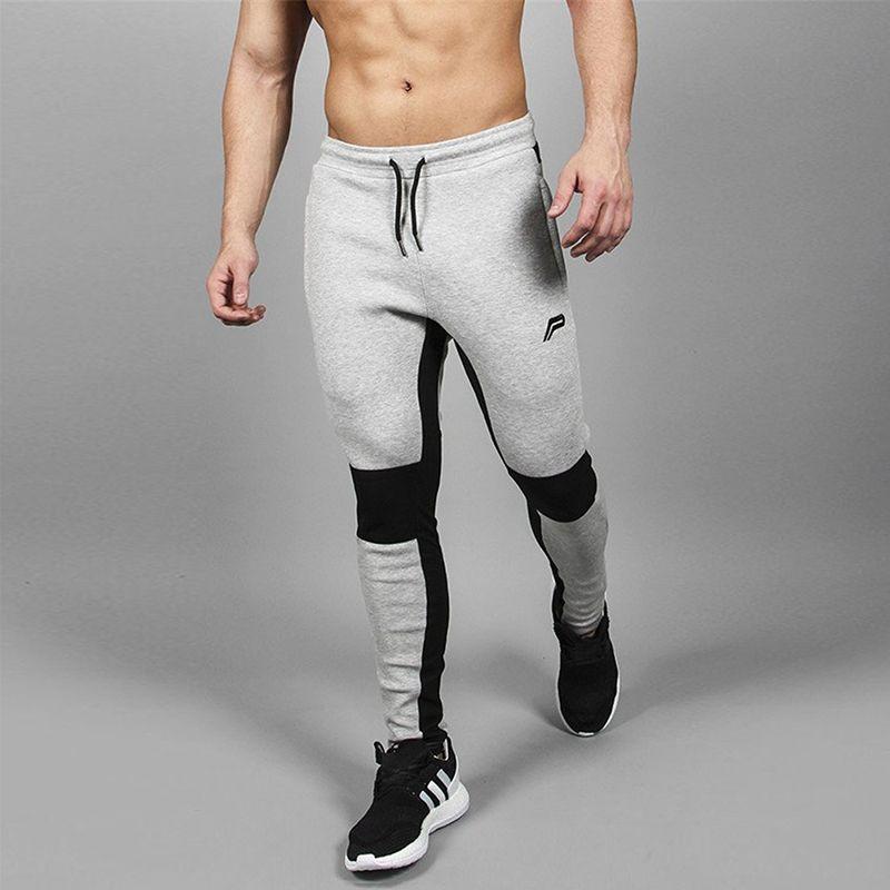 ed787297e22 2019 High Quality Jogging Pants Men Cotton Running Pants Gym Sport ...