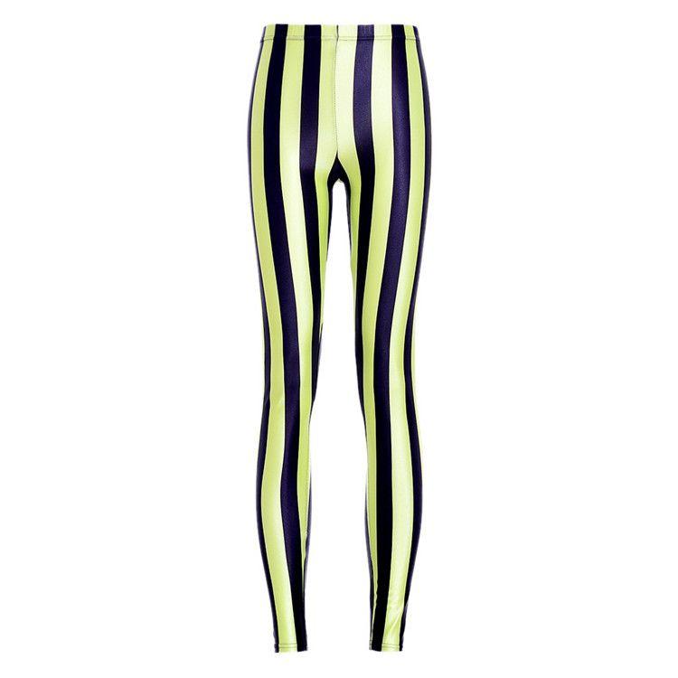 Venta al por mayor de las mujeres libres del envío colorido Spandex Zebra Print moda Sexy Fitness Leggings pantalones de rayas verticales para mujeres pantalones