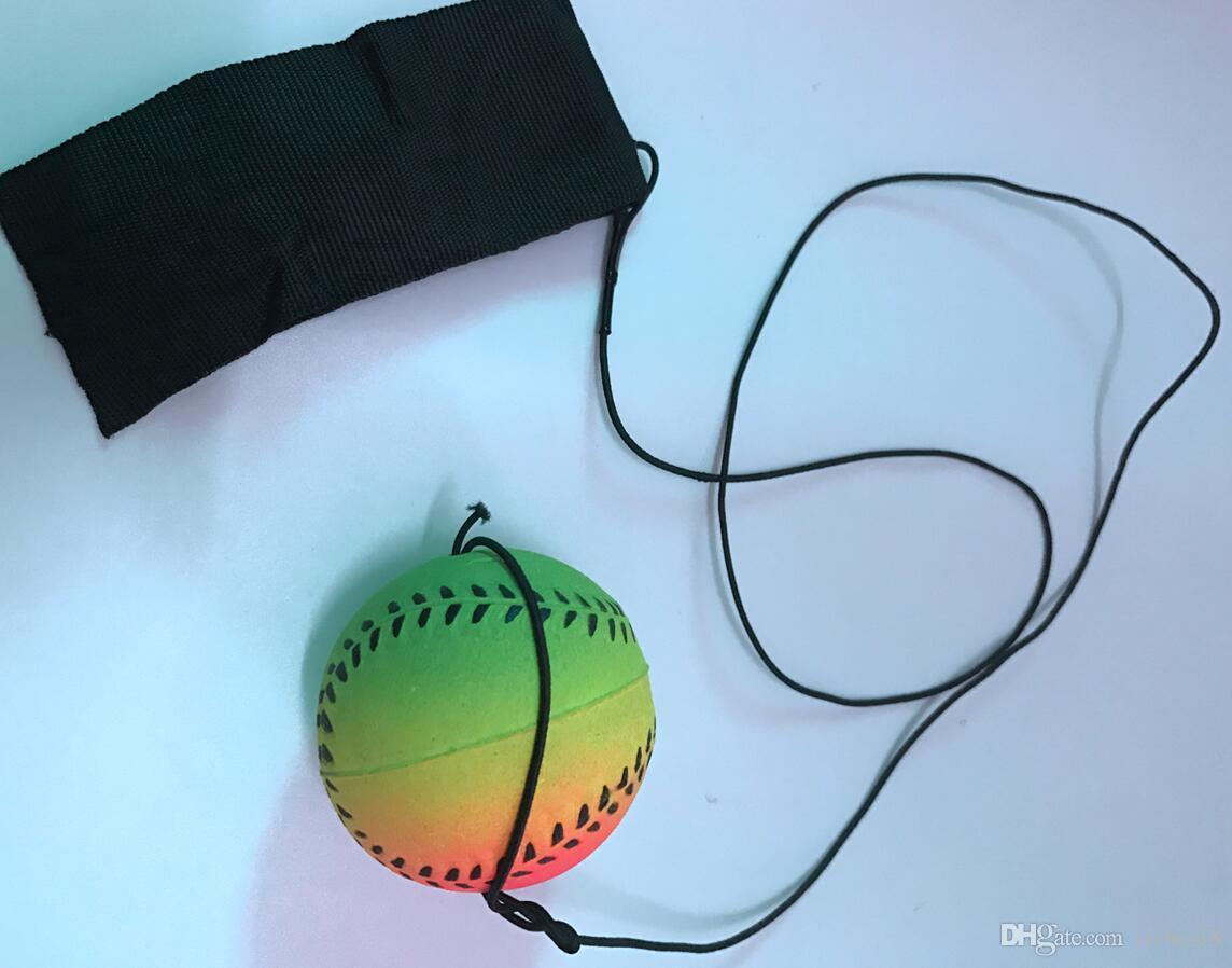 Großhandels neues zufälliges 8 Art-Spaß-Spielzeug-federnd Leuchtstoffgummi-Ball-Handgelenk-Band-Ball-Brettspiel-lustiger elastischer Ball-Trainings-Antistress