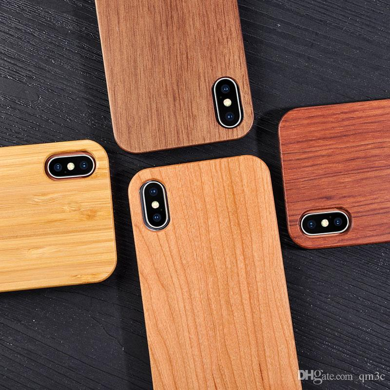 top fashion 24871 bbac9 Best Price Shockproof Wood Case For iphone X 7 8 PLUS 6 6s 5 Cell phone  Cover TPU Wooden Case Back Cover For Samsung Galaxy S9 S8 S7 S6 edge