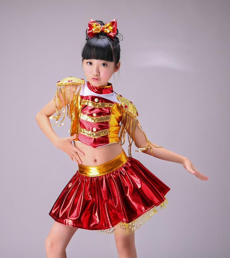 Stage & Dance Wear Sixty-one Children Sequined Costumes Jazz Dance Girls Modern Dance Performance Clothing Boy Drums Modern Techniques
