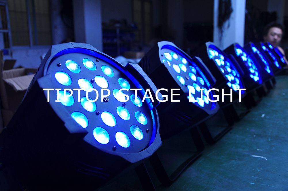 LED 18x18 W Zoom Par Luz RGBWA UV 6IN1 Cree Leds Display Digital Função de Zoom IP20 Luz de Palco CE certificado