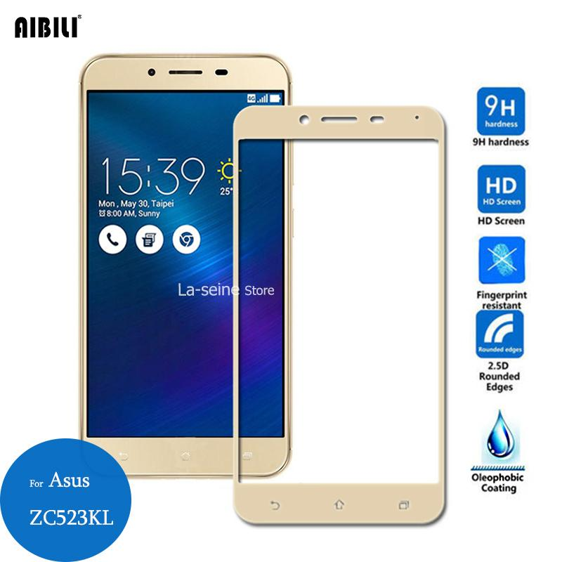 new styles 3035b bf90b For Asus Zenfone 3 Max ZC553KL Tempered Glass Full Cover Screen Protector  9H 2.5D Protective Film On ZC553 553kl 5530 5.5 inch