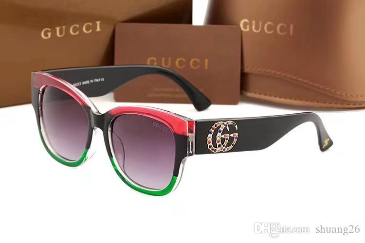 59ae92fa11e4f Luxury Square Sunglasses Women Italy Brand Designer Diamond Sun Glasses  Ladies Vintage Oversized Shades Female Goggle Eyewear Gg0218 Online with ...