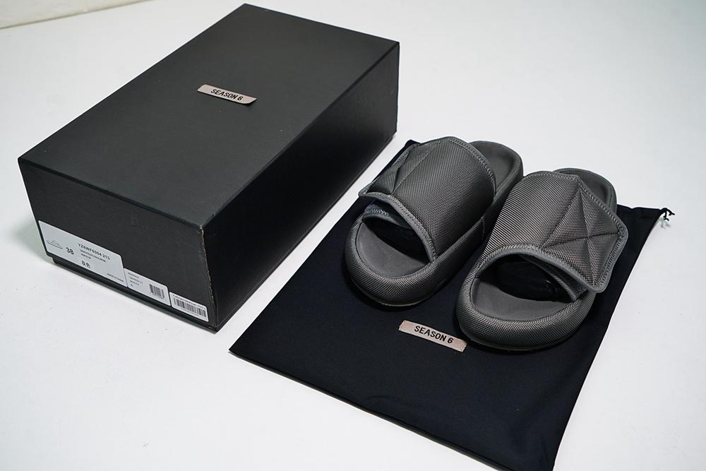 fb42285516a 2018 New Top Quality Kanye Season 6 Nylon Slides Men Women 3D Waterproof  West Seasn6 Memory Foam High Density Embroidery Green Slippers Boots Shoes  Green ...