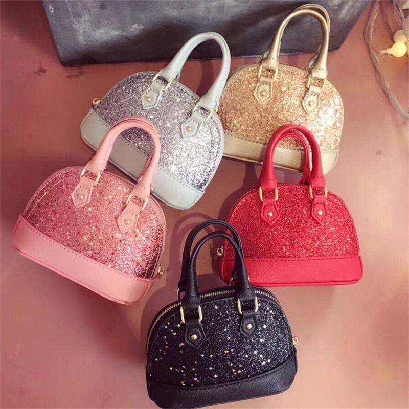 Fashion Designer Handbags For Girls Shiny Sequins Clutch Mini Handbag Kid  Leather Evening Bags Clutches Ladies Wedding Bag BA522 Handbags Uk Leather  Purses ... 79446f3baed59
