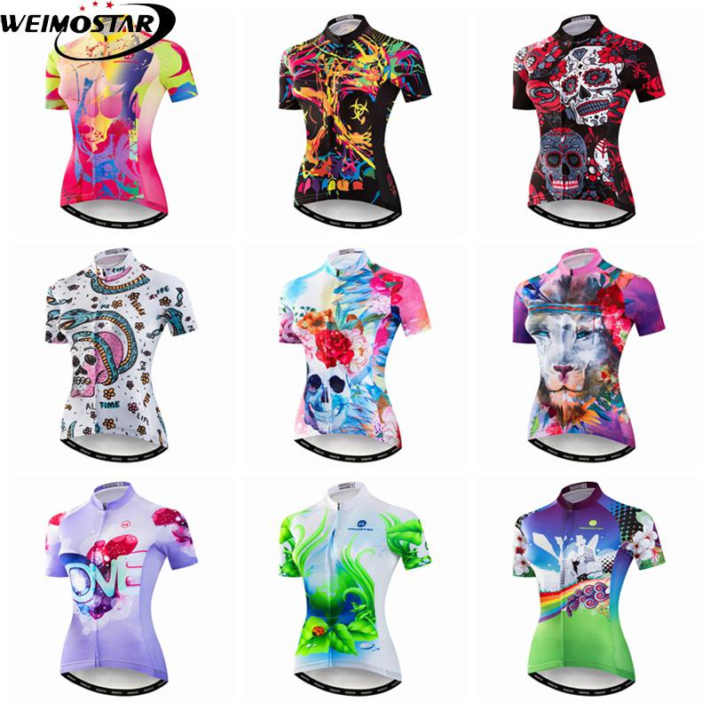 Weimostar New Team Cycling Jersey Women Summer Short Sleeve Mtb Bike Jersey  Outdoor Racing Sport Bicycle Shirt Cycling Tights Online Tops From  Pretty05 e9089591b