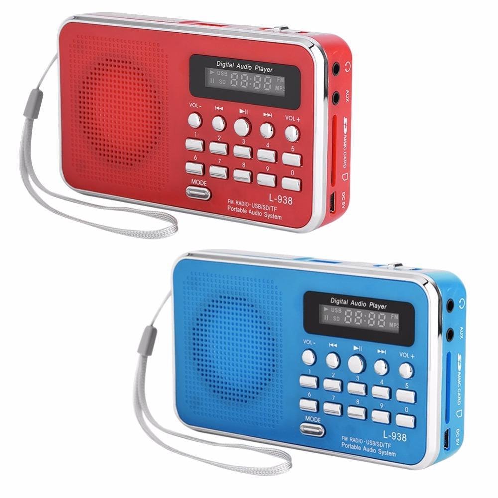 Cassette & Spieler Heim-audio & Video Fornorm Tragbare Audio-player Digital Lcd Fm Radio Stereo Audio Lautsprecher Usb Tf Mp3 Musik Audio-player