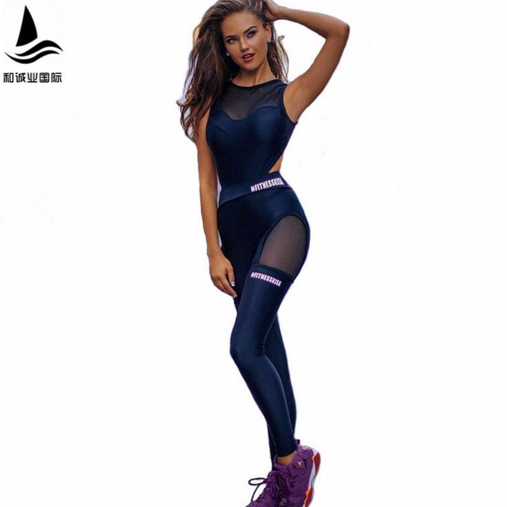 Acheter 2017 One Piece Sexy Femmes Gym Fitness Vêtements Costume Séchage  Rapide Élastique Fitness Collants Courir Serré Combinaisons Sports Yoga  Ensembles ... c794c45ea20