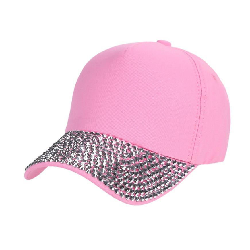 Baseball Caps for Women Fashion Snapback Hats Rhinestone Hip Hop Cap ... bb678b4dfc