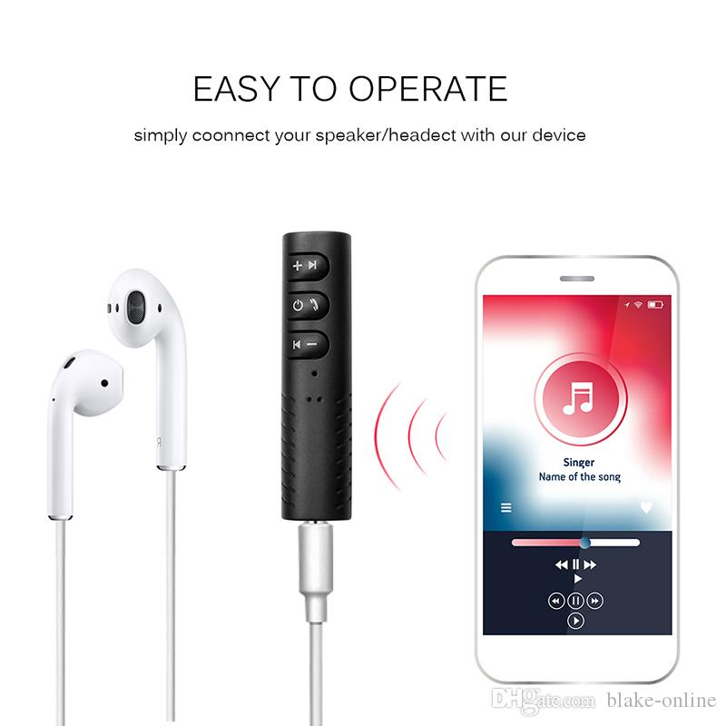 Wireless Bluetooth Audio Receiver Adapter 4.1 Bluetooth Handsfree Car Kit 3.5mm Jack Aux Car Music Kit for Home Car Stereo System