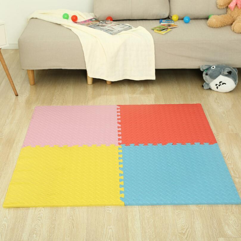 Children Crawling Mat Solid Leaf Shape Play Puzzle Mat Foam Playmat