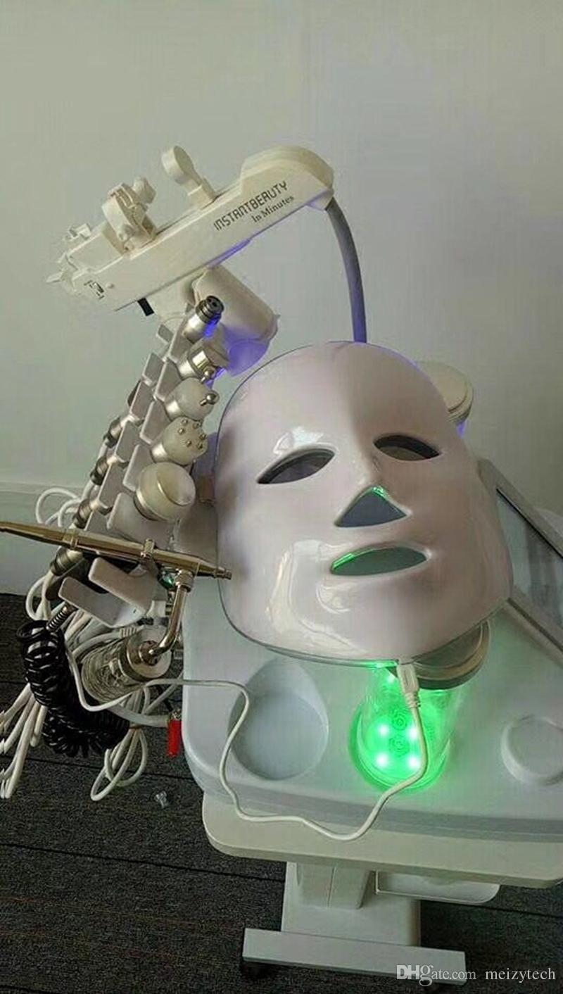 8in1 mésothérapie RF eau HydraFacial dermabrasion Nettoyage de la peau LED HAP Masque oxygène Jet froid Marteau BIO Face Lift Machine à ultrasons