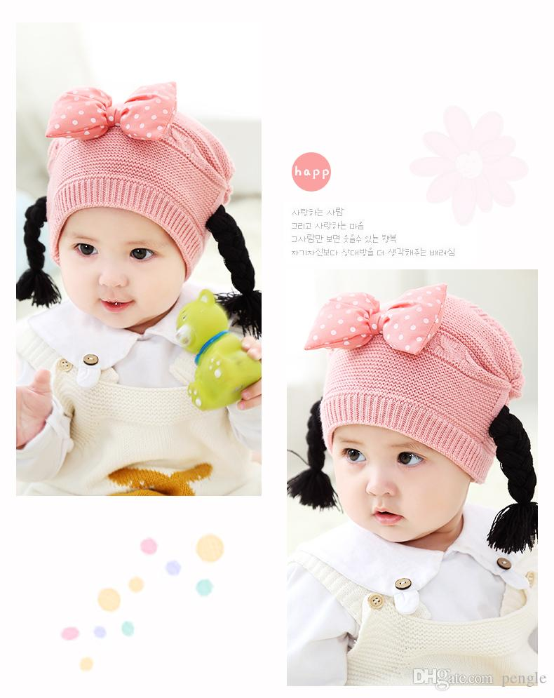 006b83cbde7 Fashion Cute Baby Winter Warm Beanie Hat Baby Toddler Knitted Double ...