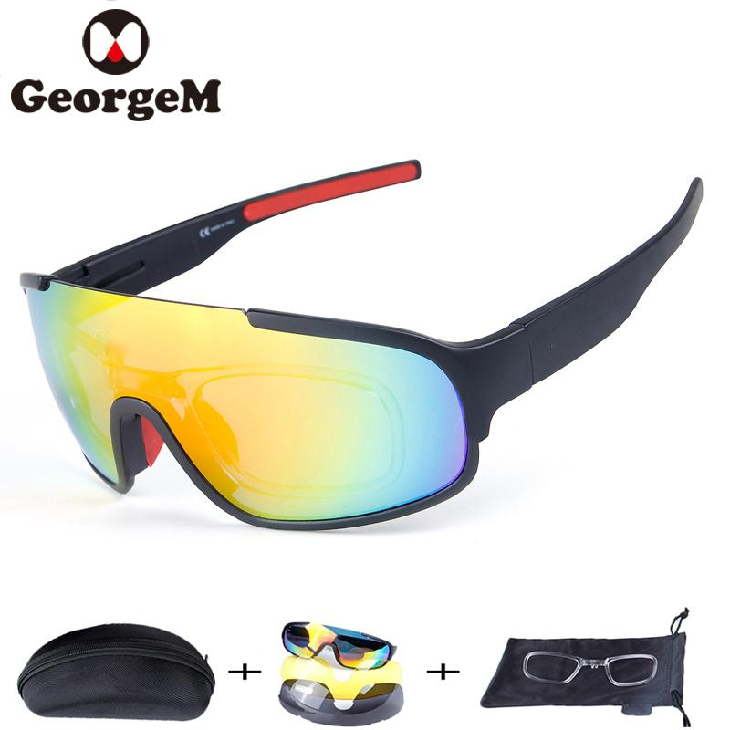 a39923df4d52 2019 GeorgeM 3Lens Polarized Cycling Glasses Outdoor Sports MTB Bike  Sunglasses Fishing Hiking Goggles Eyewear Bicycle Sunglasses 29g From  Mtaiyang