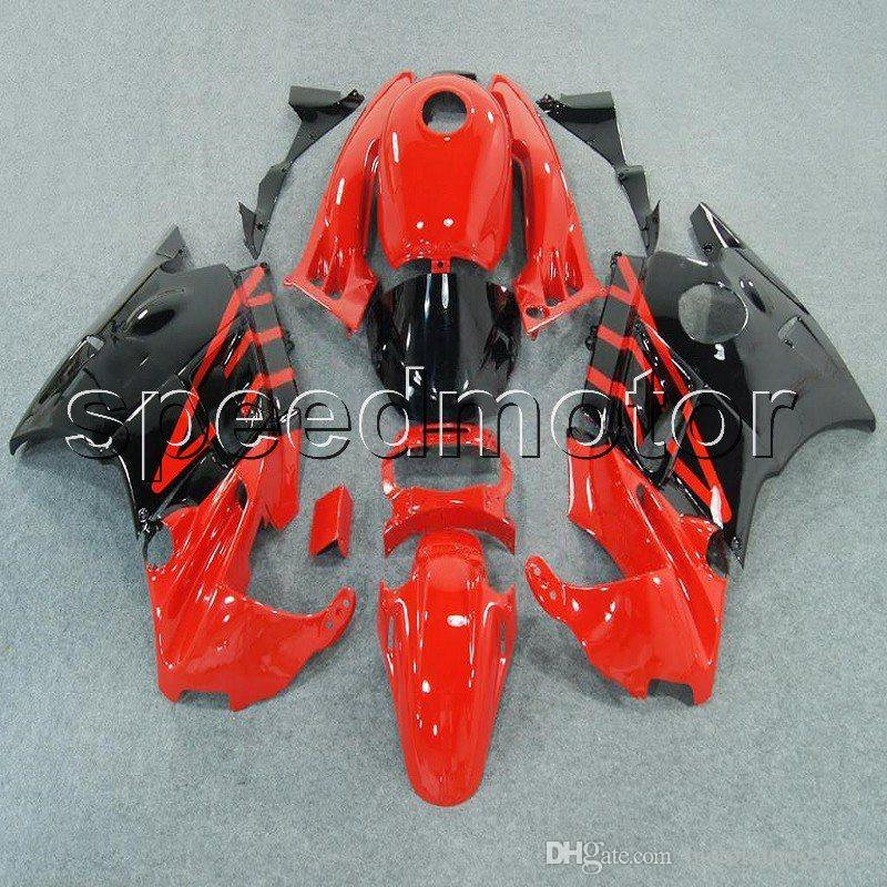 23colors+Gifts RED BLACK motorcycle cowl Fairing for HONDA CBR600 F2 1991 1992 1993 1994 600F2 91 92 93 94 ABS plastic kit