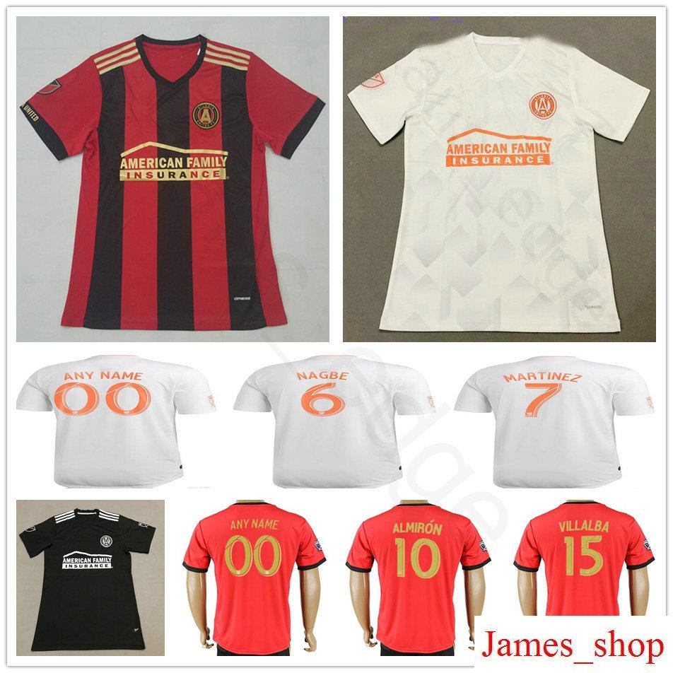 pretty nice 7d084 ac0b6 2018 Atlanta United FC Football Shirt ALMIRON 10 MCCANN 16 VILLALBA 15  MARTINEZ 7 GARZA JONES Home Red White Black Customize Soccer Jerseys