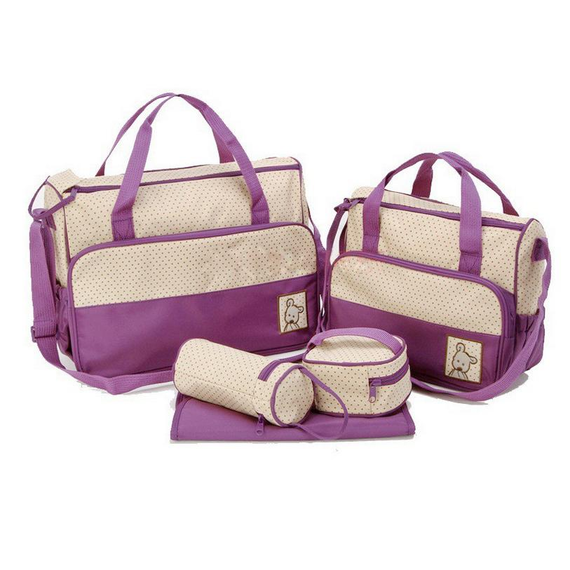 f562a6272f Hot Fashion September 5 Kits Bag Pocket Shopping Cart Maternal Drinking  Bottle For Honeycomb Baby Accessories TravelBag Set Leather Backpack Purse  Handbags ...