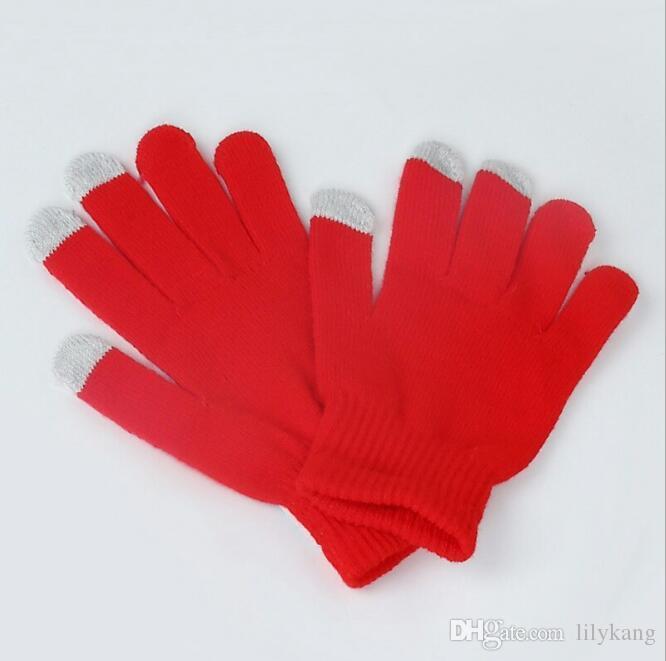 Stricken touch screen handschuhe warme winter erwachsene radfahren handschuh touch kapazität bildschirm magie handschuhe fahren handschuhe touchscreen für handy