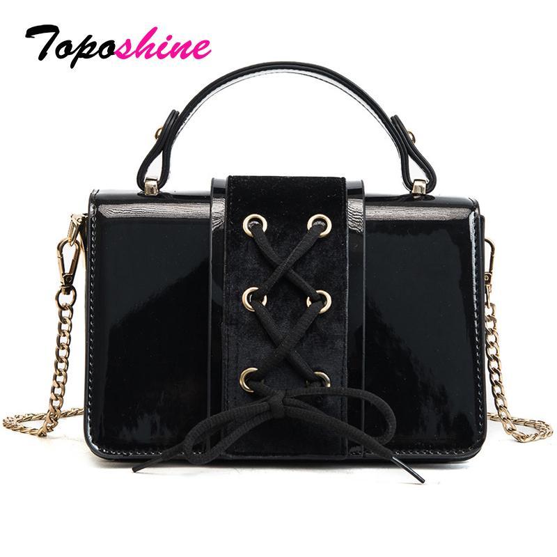80aa35e42fe4 Toposhine Brand Women Shoulder Bag PU Leather Women Handbag Chain ...