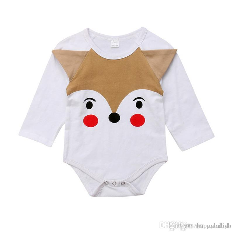 dde19d800591 2018 Cute Autumn Kids Clothing Newborn Baby White Romper Long Sleeve ...