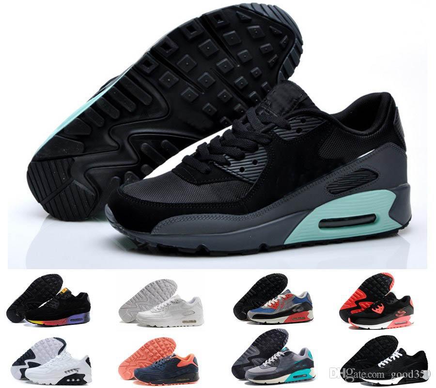 release date 21ab1 6e4ff Großhandel 2018 2018 Nike Air Max Airmax 90 Air Männer Frauen Turnschuhe  Schuhe Classic 90 Mens Laufschuhe Trainer Luftpolster Outdoor Schuh Surface  Maxes ...