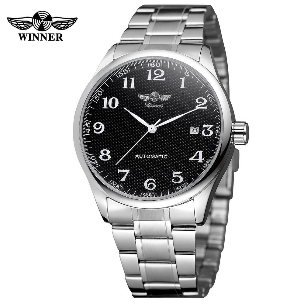 3fbef006df0 Compre T Vencedor Mens Relógios Auto Vento Relógio Mecânico De Aço  Inoxidável Montre Automatique Homme Auto Data Relógios De Pulso Horloges  Mannen C18111601 ...