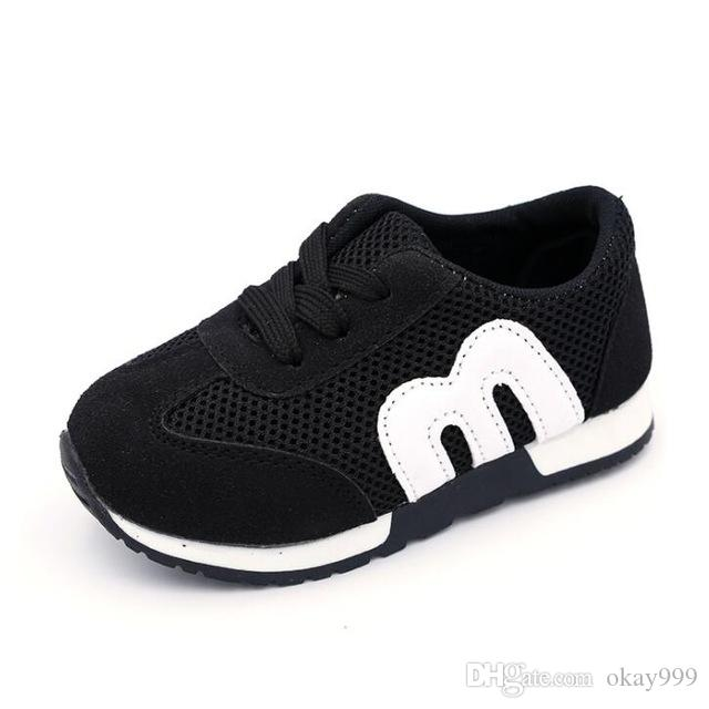 10861ddb01e8 2019 M New Fashion Spring Summer Children Shoes Mesh Boys Girls Sandals  Breathable Cut Outs Kids Sneakers Unisex EU 21 30 Childrens Running Gear  Cushioned ...