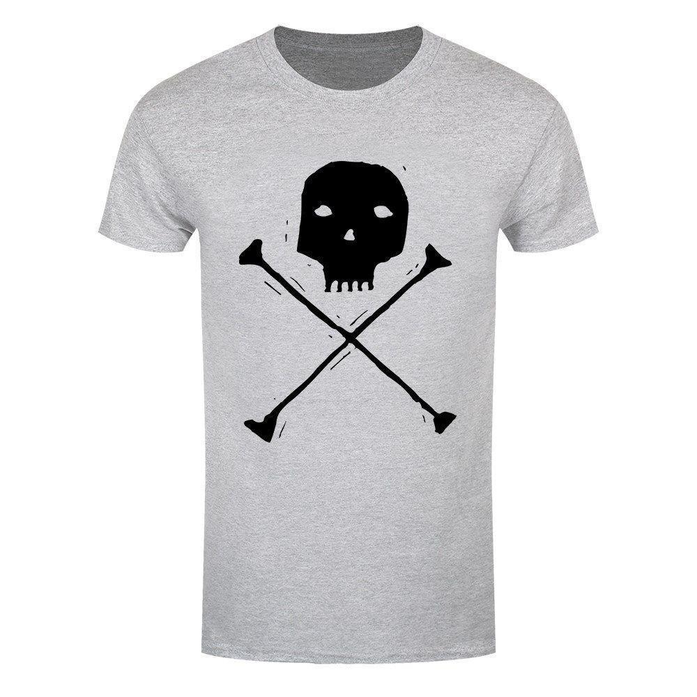 e5ea7ada2fee Skull & Crossbones Men's Grey T-shirt Print T Shirt Men Summer Style  Fashion top tee