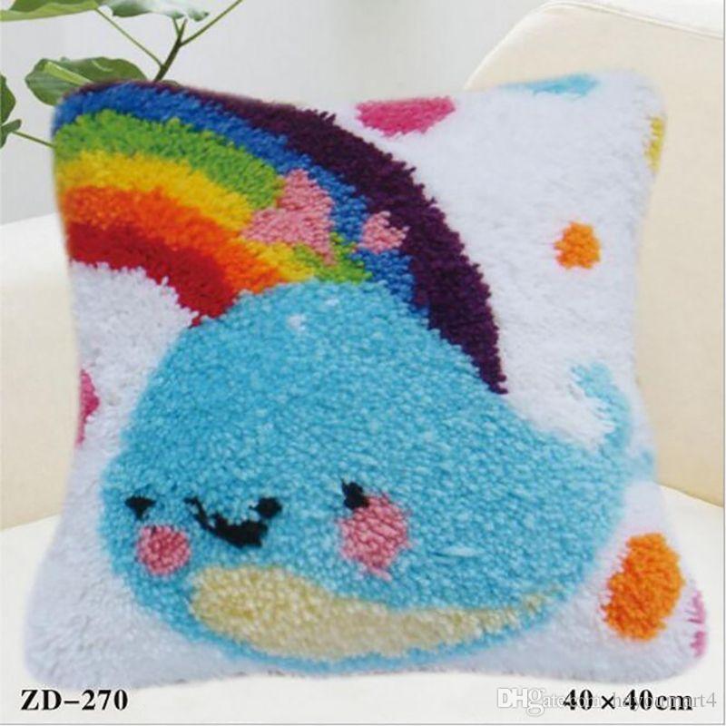 Handmade Pillow Cover Diy Pillowcase Cute Blue Whale Cushion Covers