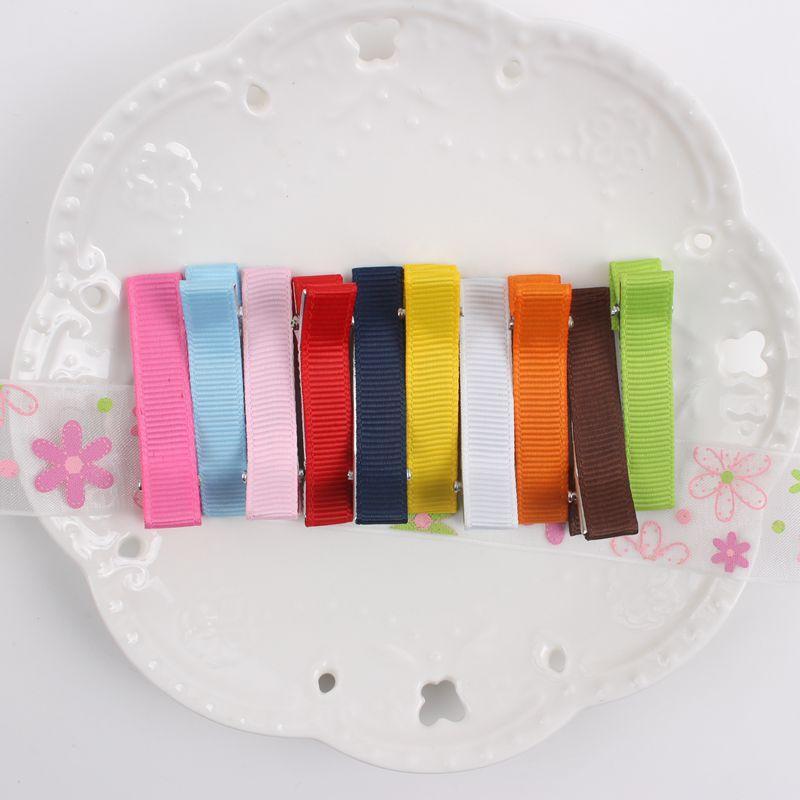 2017 NEUE einzelhandel regenbogen farbe 48mm + 10mm DIY haarspangen Haarschmuck für mädchen UND KINDER 10 farben barrettes 1 STÜCKE BM01