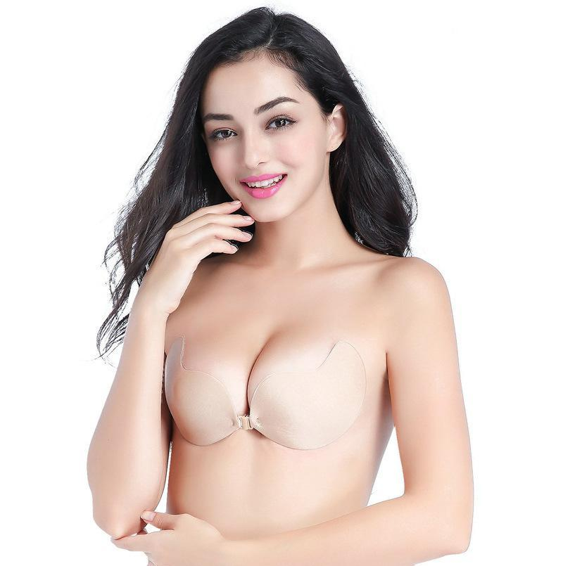 c5394e9436 2019 Women Push Up Bra Sexy Invisible Bralette The Goddess Instant Breast  Lift Invisible Silicone Cropped Underwear Bras Adjustable Bridal Chest From  Soiso