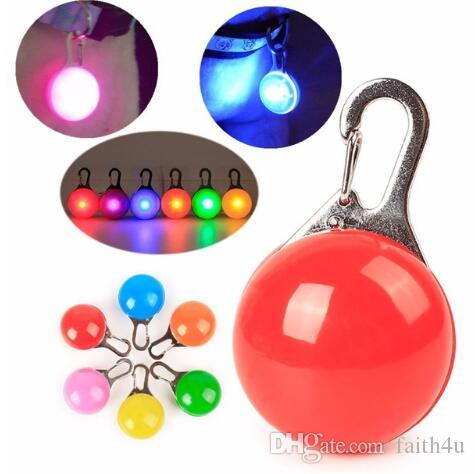 Nice Colorful Clip-on Safety Night Light Pet Collar Keychain Light Led Waterproof Safety Night Walking Lights For Dogs And Cats Security & Protection