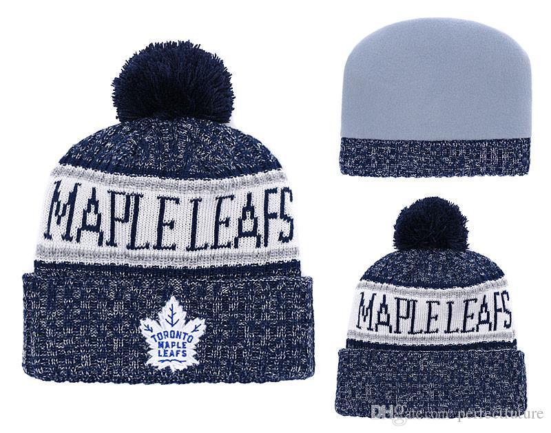 Toronto Maple Leafs Ice Hockey Knit Beanies Embroidery Adjustable ... e01a6e872