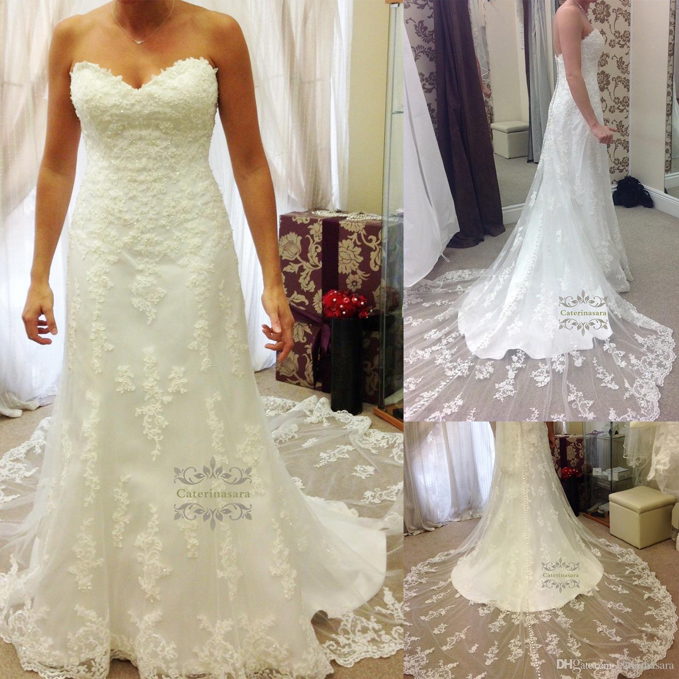 Vintage Sleeveless Lace Appliques Mermaid Wedding Dress Lovely ...