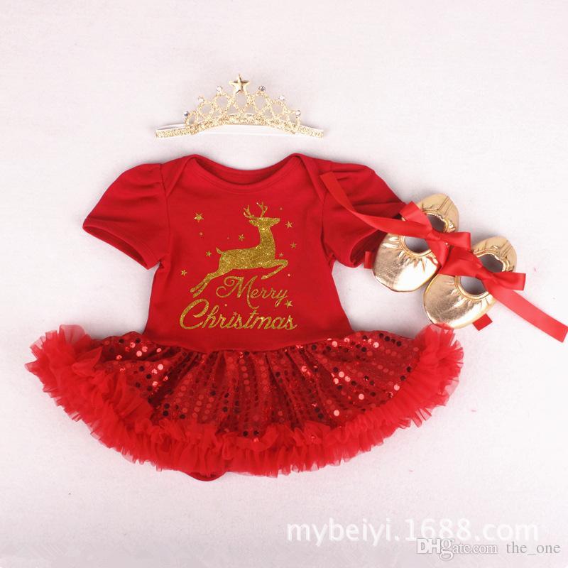 Bébé Grils Coton Fils Robes Tutu Barboteuses Set Set avec Barboteuses Bandeaux Chaussures Drapeaux de Jour de l'Indépendance Américaine Rouge Blue Stars Dresse
