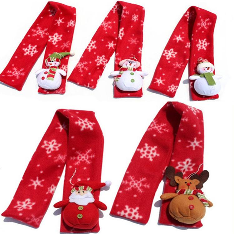 Christmas Scarf.Winter Santa Snowman Reindeer Scarf Novelty Christmas Costume Decorations Ornament Lady Christmas Scarf For New Year S Gifts Le114