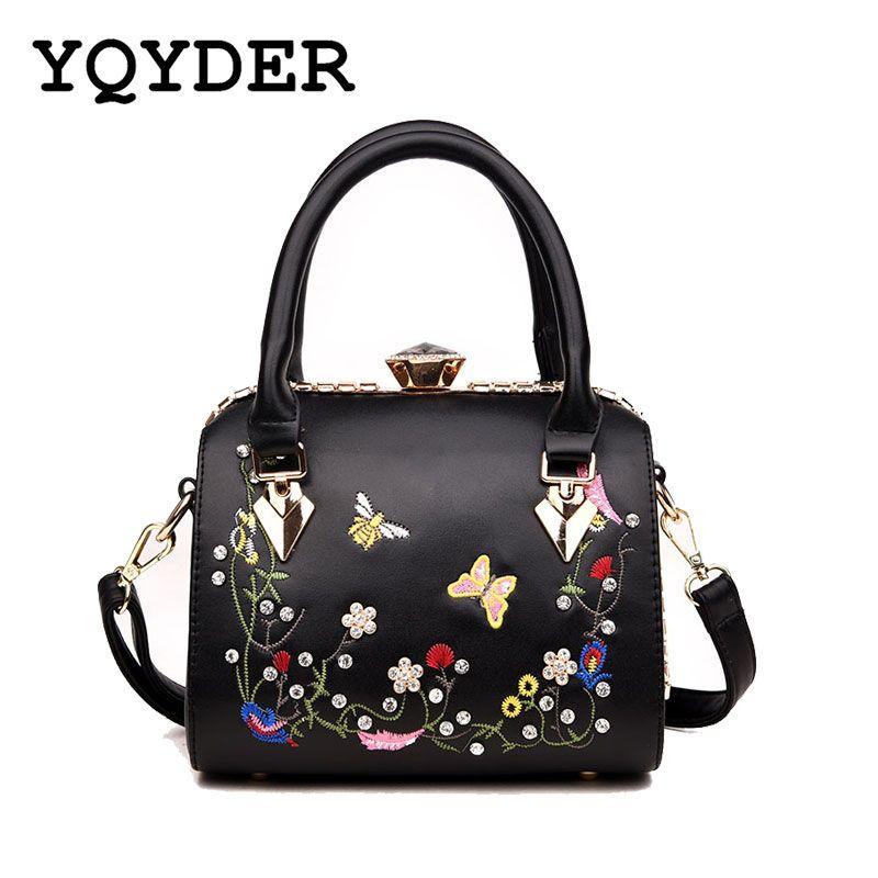 db99f3e5366c Flower Embroidery Brand Luxury Handbags Women Bags Designer Tote Over  Shoulder Crossbody Messenger Bag PU Leather Female Sac
