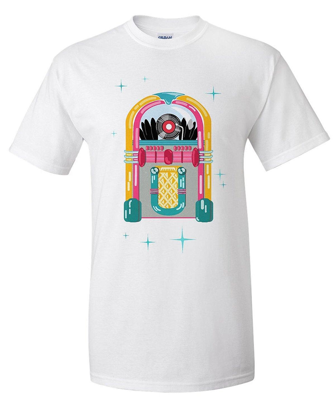 2871726a7eee Retro Jukebox Premium T-Shirt Tops Tees Men 100% Cotton Summer ...