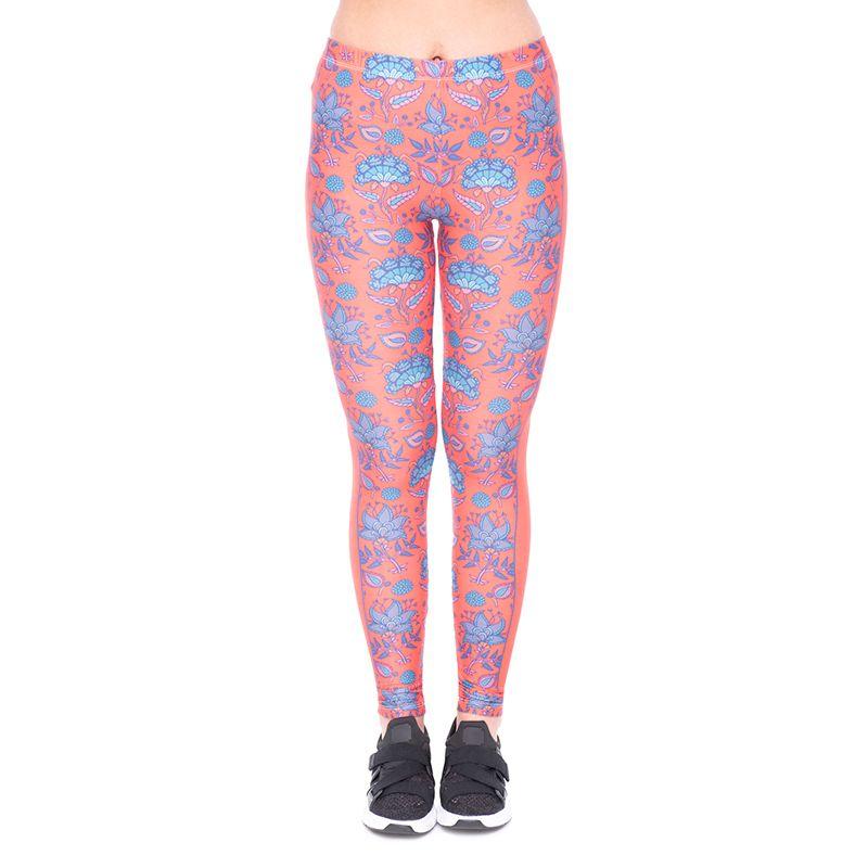 a03300e6fbbab1 Großhandel Mädchen Leggings Rosen Ornament 3D Full Print Frauen Dünne  Stretchy Hosen Dame Gym Fitness Capris Yoga Weiche Hose YX50539 Von  Joybeauty, ...