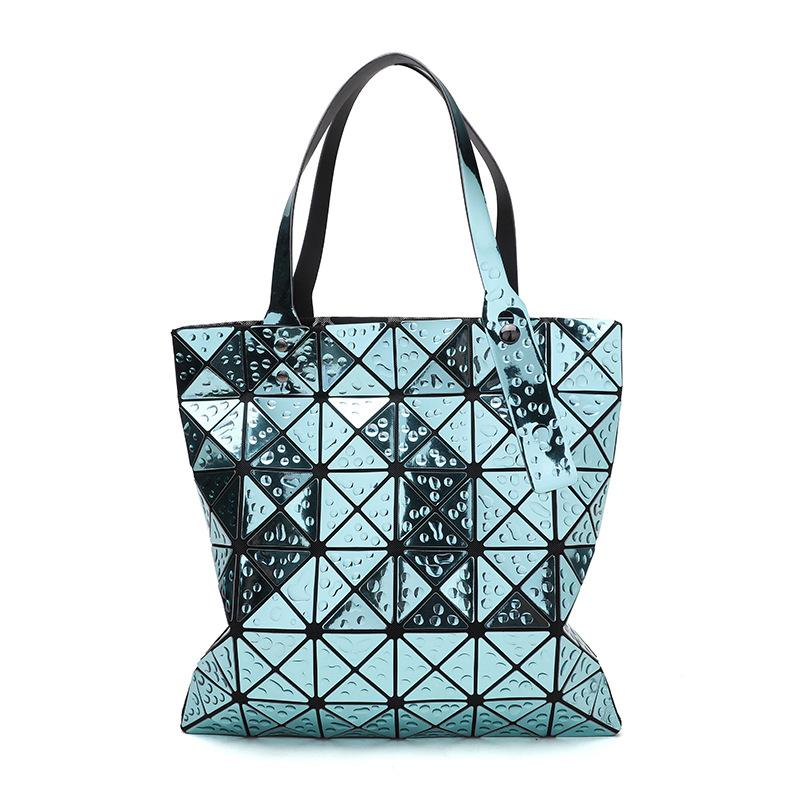 Bag For Women 2018 Female Folded Geometric Plaid Bag Fashion Casual Tote  BAO BAO Women Handbag BaoBao Shoulder Ladies Bags Leather Purses From  Croftte f1c12336fc288
